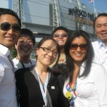 At the DNC with Daniel Dae Kim, CP and Kelly Hu