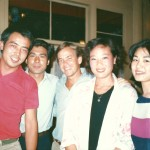 The now famous, then up-and-coming Chen Kaige and Zhu Shimao. Very young and handsome then. I look ridiculous in my perm though. What came over us in the 80's?